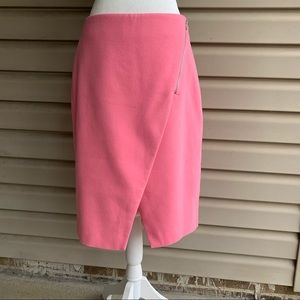 •Ann Taylor LOFT• Pink Zipper Detail Pencil Skirt - Size 10